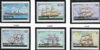 St Kitts SG42w-47w 1980 Ships set 6v watermark variety complete unmounted mint